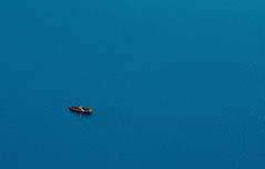 toiler of the sea (cherryspicks (on/off)) Tags: water sea man person rowing alone minimalism blue