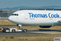 Thomas Cook Airlines Boeing 767-31K(ER)(WL) G-DAJC (892937) (Thomas Becker) Tags: thomas cook airlines tcx boeing b767 767 31k 763 b763 gdajc cn 27206 ln 533 220294 150494 airtoursinternationalairways mytravel garudaindonesia skyserviceairlines goldhofer ast2 fraport flughafen airport aeroport aeropuerto aeroporto fra eddf frankfurt plane spotting aircraft airplane avion aeroplano aereo 飞机 vliegtuig aviao аэроплан samolot flugzeug germany deutschland hessen rheinmain nikon d800 nikkor 70200 f28 vrii fx raw gps aviationphoto cthomasbecker 170718 taxiing noseshot geotagged geo:lat=50039523 geo:lon=8596970 aerotagged aero:airline=tcx aero:man=boeing aero:model=767 aero:series=300 aero:special=er aero:tail=gdajc aero:airport=eddf