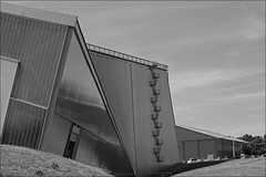 RAF Museum, Cosford, Shropshire (alanhitchcock49) Tags: raf museum cosford black and white bw architecture july 17 2017