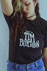Tim Burton (TheJennire) Tags: photography fotografia foto photo canon camera camara colours colores cores light luz young tumblr indie teen timburton people portrait girl curlyhair hair fashion jeans self naturallight fandom fangirl