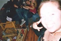 Nimp (Justine Sla) Tags: party fête soirée night nimp toulouse bringue friends team nuit beer alcool alcohol smile rires memories souvenirs sandra selfie clem argentique photo foto photographie pellicule pellicula film ricoh vintage