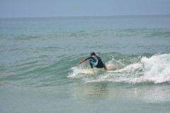 Wave surfing at Contis Plage France (edvk49) Tags: sea ocean wavesurfing southoffrance