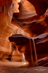 Canyon magic (Marc Haegeman Photography) Tags: upperantelopecanyon page arizona canyon slotcanyon sand rock erosion layering nikond800 marchaegemanphotography usa americansouthwest tsebighanilini navajoland navajonation nature scenic landscape az