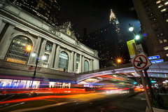 (Claire*Marsh) Tags: nyc newyork city usa urban street dark night evening light trails traffic pershingsquare grandcentralterminal road chrysler building le longexposure sonya6000 wideangle lens