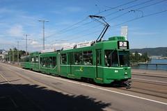 664 (200er Serie) Tags: tram drämmli schienenfahrzeug bvb basler verkehrsbetriebe grün guggumere schindler waggon pratteln