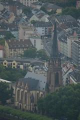 Dreikönigskirche from Main Tower (CoasterMadMatt) Tags: maintower2017 maintower main tower wolkenkratzer skyscraper aussichtsplattform observationdeck aussicht view aussichtspunkt warte viewpoint blickaufdiestadt blicküberfrankfurt viewoverfrankfurt stadtbild cityscape frankfurtammain2017 frankfurtammain frankfurt2017 frankfurt skyline dreikönigskirche protestantchurch kirche church kirchen churches frankfurterkirchen frankfurtchurches deutschekirchen germanchurches gebäude building architektur architecture aufbau structure ausenseite exterior stadt city städte cities deutschestädte germancities hessen hesse