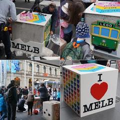 Melbourne Bollart (TheBrickMan) Tags: bollart melbourne franco cozzo bollard love tram heart lego