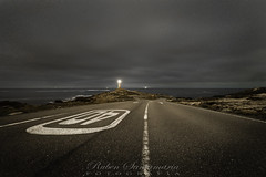 Roncudo (Rubén Santamaría Fotografía) Tags: roncudo corme ponteceso galicia nocturna night lighthouse faro carretera road paisaje landscape nikon