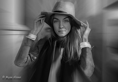 The Lady In the Hat ( The Grove LA) (bryanasmar) Tags: lady hat bw la grove
