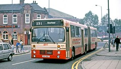 South Yorkshire PTE: 2011 (C111HDT) in Frederick Street, Rotherham (Mega Anorak) Tags: bus leylanddab southyorkshire pte articulated rotherham