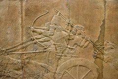 Ashurbanipal's Lion Hunt (meg21210) Tags: ashurbanipal assyrian king chariot attendants servants bm britishmuseum relief stone ancient art london england uk greatbritain northpalace nineveh 64535bc realism animal hunt royalhunt palace