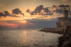 Piran at sunset (fritz polesny) Tags: canon6d 24105mm piran slovenia evening sea