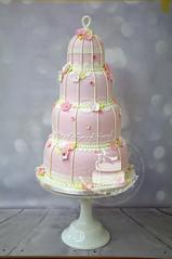 Pink Cage Wedding Cake (toertlifee) Tags: törtlifee weddingcake cake tortefestlichetorte torten hochzeit wedding hochzeitstorte pink käfig flower blümchen spitze lace