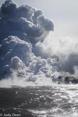 Watching lava flow into the sea 1 (judy dean) Tags: judydean 2017 hawaii bigisland sea ocean lava flow awesome