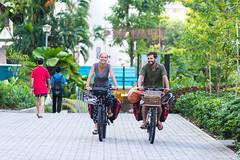 Andy Guzy and Lisa Geoerger (Tatyana Kildisheva) Tags: asia singapore singapura southeastasia bicycle cycling cyclinginasia cyclist pinnacleatduxton warmshowers азия сингапур юговосточнаяазия dsc6488 warmshowersorg cycletouring worldbybike