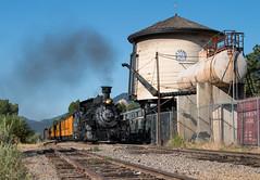 Highball Hermosa (Jake Branson) Tags: train railroad durango silverton colorado co steam locomotive 282 mikado k36 hermosa water tank