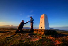 """THE PROPOSAL ~ DID SHE SAY YES ? "" (Wiffsmiff23) Tags: breconbeaconsnationalpark brecon breconbeacons mountain penyfan corndhu cribbyn trigpoint hike trek proposal love secret cottage fanfrynch"