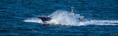 2017 - Japan - Yokohama - Port Pilot Boat (Ted's photos - For Me & You) Tags: 2017 cropped japan nikon nikond750 nikonfx tedmcgrath tedsphotos vignetting yokohama yokohamajapan pilotboat ship boat spray