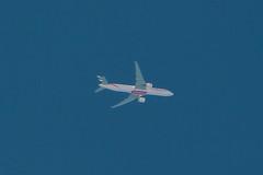 Emirates 777-300ER over Cleveland (chrisjake1) Tags: emirates uae 777 77w b777 b77w b777300 777300er boeing altitude contrail a6eqa