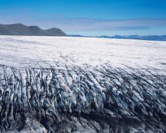 Glacier by the road (JaZ99wro) Tags: 4x5 e6 epsonv750 graflexcrowngraphic iceland islandia l034a lf largeformat provia100f tetenal3bathkit analog exif4film film moraine