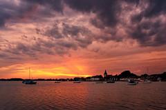 Stormchasing (Langstone Joe) Tags: boshamharbour sunset storm boats saxonchurch seascape cloudscape landscape