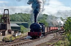 combined coal train (midcheshireman) Tags: steam staffordshire train locomotive foxfield foxfieldcolliery industrial
