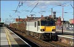 Wigan North Western, EWS 92029 4M63 (09.14 Mossend - Arpley Yard) 09/02/06. (DigitAL46232) Tags: ews 92029