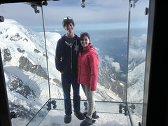 Alps Trip 1113m (mary2678) Tags: aiguille du midi chamonix france europe honeymoon mont blanc french alps mountain mountains sky cloud clouds snow view peak stepintothevoid step void glass box rick steves myway way alpine tour