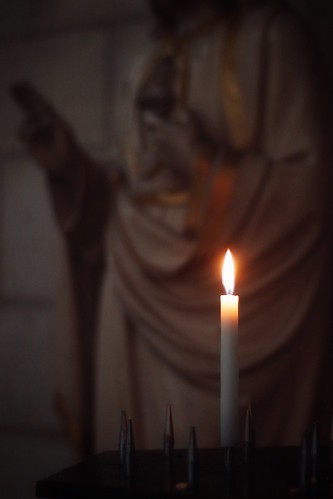 Auxerre cathedral candle