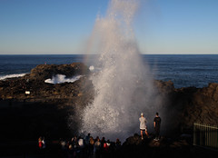 Kiama blowhole at its best (RossCunningham183) Tags: kiamablowhole kiama blowhole sea ocean australia bigwaves waves