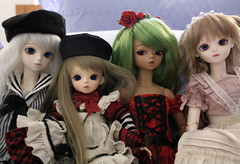 Bluefairy Sisters (o_lillet_o) Tags: bluefairy bjd msd doll olive may patrick charlotte tinyfairy shinyfairy tf sf ws baked skin march limited preorder