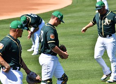 3 catchers in a row BruceMaxwell, #80 and StephenVogt (jkstrapme 2) Tags: baseball jock cup bulge jockstrap catcher crotch