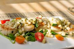 Scallops with Corn, Zucchini, and Tomatoes (Tom Ipri) Tags: scallops diningin