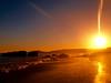 SUNSET ON THE BEACH P6107548 (2) (hans 1960) Tags: sun sunset sonne sonnenuntergang outdoor nature natur beach strand sand shell rocks portugal algarve wasser water spiegelung mirrow himmel sky farben colours