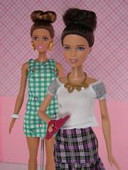 Fashionistas Fun with Buns and Checks with Checkmates Barbie dolls (modcasey) Tags: fashioniosta barbie dolls fun with buns checks checkers