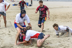 H6G64111 Ameland Invites v Baba Bandits (KevinScott.Org) Tags: kevinscottorg kevinscott rugby rc rfc beachrugby ameland abrf17 2017 vets veterans netherlands