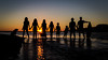 Family Beach Picture Sunset Sep 2016-1 (Tanner's) Tags: encanto sun dusk vacation orange dog family silhouette clouds sunset ocean water beach surf skimboard