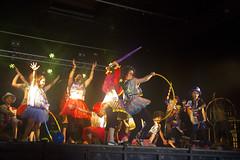 En la imagen se puede ver un momento de la actuación de Turuteroak con su playback titulado 'Korrika 2017'
