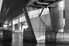 (duméphotos) Tags: architecture architectureurbaine ouvrage dart noir et manche france fr blance bridge water river black white bw nb graphique graphic