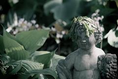 Statue, Cantigny Park. (EOS) (Mega-Magpie) Tags: canon eos 60d nature outdoors cantigny park wheaton dupage il illinois usa america statue green leaf plant