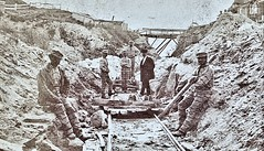 Sing Sing Prison. [Prisoners at work at the R.R. tracks.] (SSAVE over 12 MILLION views THX) Tags: singsing prisoners prison newyorkstate 1865