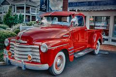 Summer Classic (zuni48) Tags: truck classictruck vintagetruck redtruck newport hdr vehicle transportation chevrolet chevy thrfitmaster