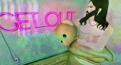 get out (aarontj90) Tags: bear mascot costume secondlife sl avatar beard cool hipster hippie jesus getout bearhugs joint high