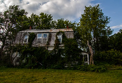 (Moonshine Whiskey) Tags: abandoned decay bluesky overgrown