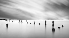 Off Track! (Solent Poster) Tags: pentax k1 2470mm langstone posts long exposure minimalist seascape landscape hayling billy