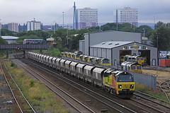 70 passing 70's! (DieselDude321) Tags: 70806 70006 class 70 66 66533 colas rail freightliner 6z48 1845 neath abbey wharf leeds stourton rmc midland road depot