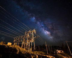 Milky Way Over Truckee Power Lines (NPuter) Tags: night 1635iii milkyway truckee stars mountains astrophotography powerlines canon longexposure space astro nightsky california summer power northerncalifornia norcal tahoe donner landscape 5dmarkiv sky 5d4 nightscape electricity 5div nature unitedstates us