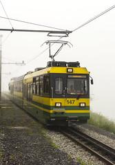 Wengenalpbahn (l4ts) Tags: europe switzerland bern swissalps berneseoberland lauterbrunnen wengen wengenalpbahn train mist