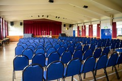 Facilities - Main Hall, set for a concert