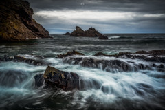 Slip 'n Slide (Augmented Reality Images (Getty Contributor)) Tags: canon cliffs clouds coastline colours findochty landscape leefilters littlestopper longexposure morayfirth rocks scotland water waves